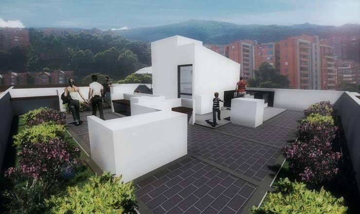 Terraza:  de estilo  por FARIAS SAS ARQUITECTOS,