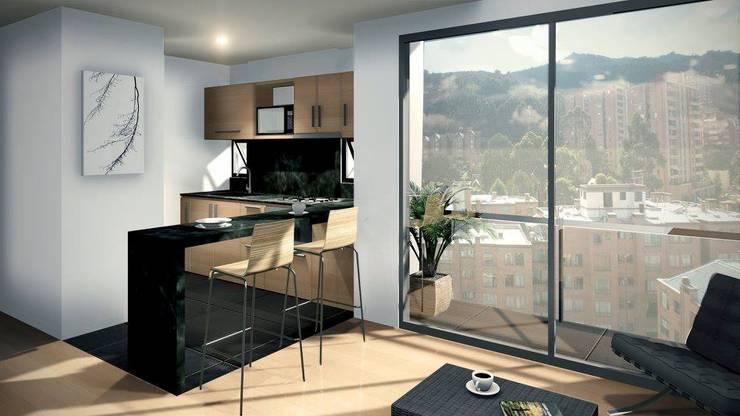 Render Cocina:  de estilo  por FARIAS SAS ARQUITECTOS