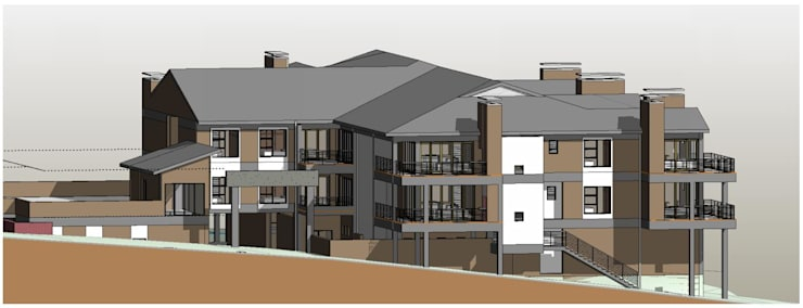 Southwest View:   by Architects Unbound (Pty) Ltd.