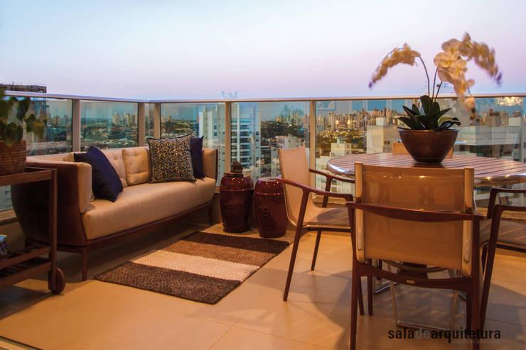 Apartamento J+R: Terraços  por Saladearquitetura