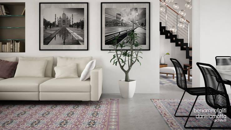 Livings de estilo  por Beniamino Faliti Architetto