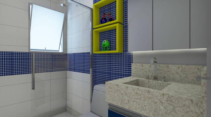 Banheiro Infantil: Banheiros modernos por Espaco AU