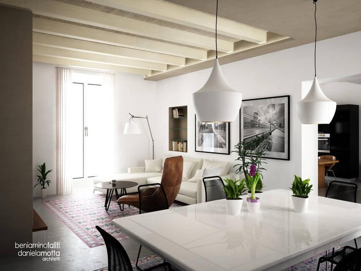 غرفة المعيشة تنفيذ Beniamino Faliti Architetto