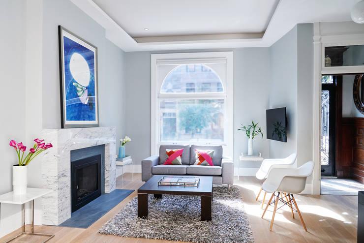 Park Slope Townhouse: modern Living room by Sarah Jefferys Design