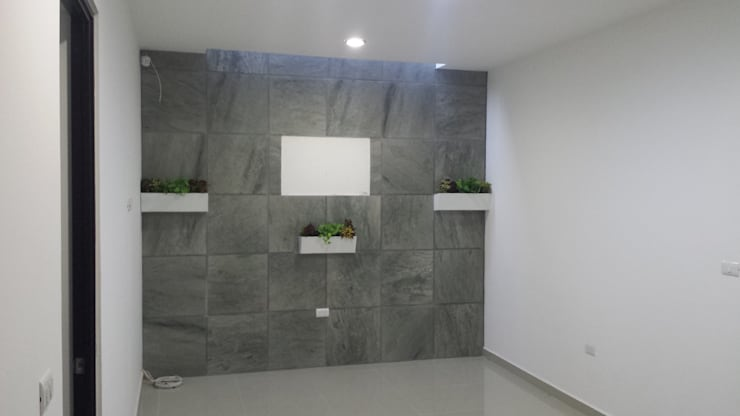 Muro sala de Televisión:  de estilo  por KS Architektural Solution, Ecléctico