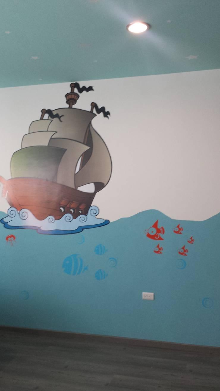 Habitación infantil con motivos marinos:  de estilo  por KS Architektural Solution, Ecléctico