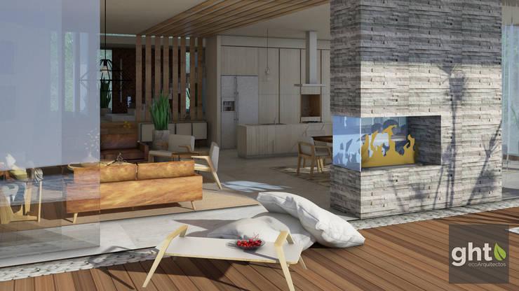 Interiorismo Casa Cañadas: Terrazas de estilo  por GHT EcoArquitectos, Moderno