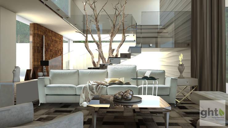 Interiorismo Casa-Habitación : Salas de estilo  por GHT EcoArquitectos, Minimalista