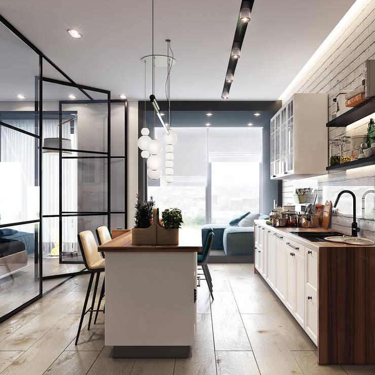 Projekty,  Kuchnia zaprojektowane przez Entalcev Konstantin