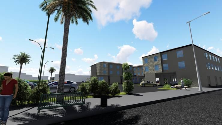 """Hotel Rode way Inn:  de estilo {:asian=>""""asiático"""", :classic=>""""clásico"""", :colonial=>""""colonial"""", :country=>""""rural"""", :eclectic=>""""ecléctico"""", :industrial=>""""industrial"""", :mediterranean=>""""Mediterráneo"""", :minimalist=>""""minimalista"""", :modern=>""""moderno"""", :rustic=>""""rústico"""", :scandinavian=>""""escandinavo"""", :tropical=>""""tropical""""} por CA ARQUITECTOS,"""