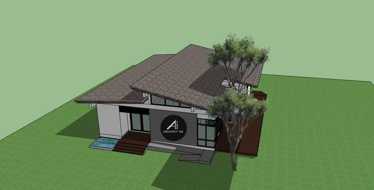 บ้านชั้นเดียว พุทธมณฑลสาย2.:   by สถาปนิก หนึ่ง ศูนย์ สี่