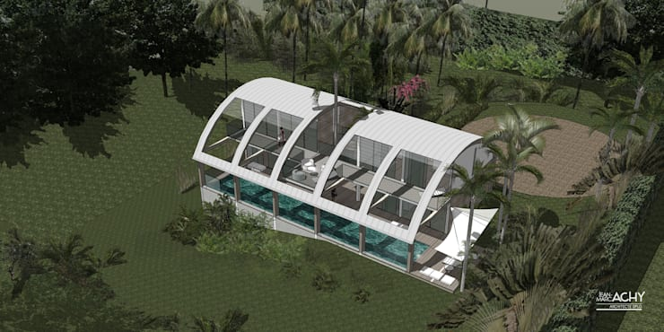 Houses by Jean-Marc Achy Architecte DPLG, Tropical