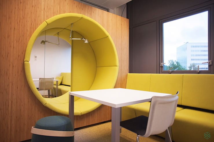 Realisatie kantoor Science park Leiden:  Kantoor- & winkelruimten door VAN SCHIE ARCHITECTEN, Modern