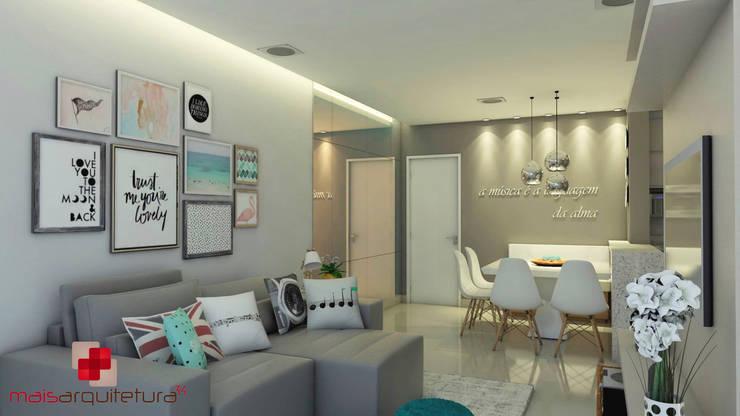 Salas de estilo  por Mais Arquitetura 34