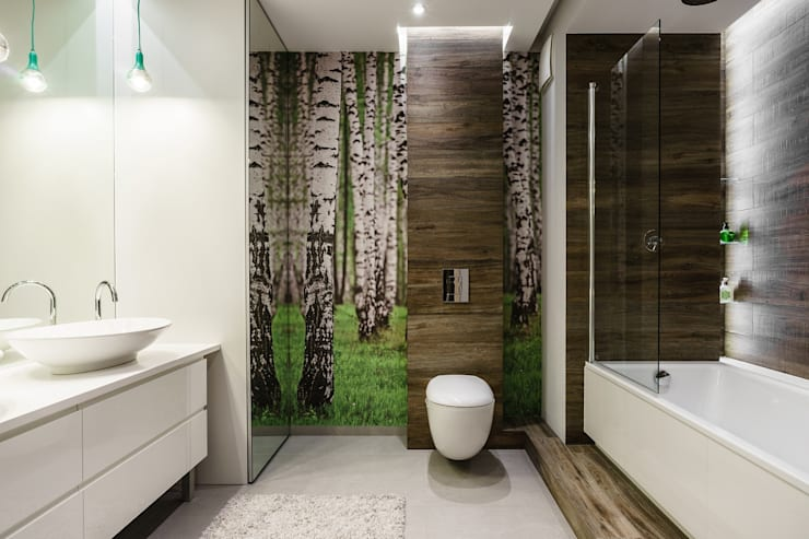 Modern Bathroom by Saje Architekci Joanna Morkowska-Saj Modern