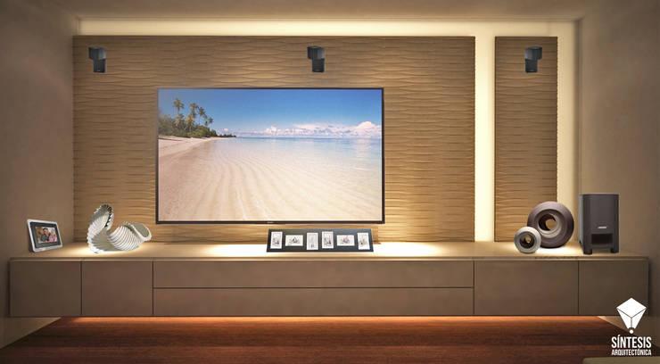 Render Mobiliario y Muro.:  de estilo  por Síntesis Arquitectónica ®