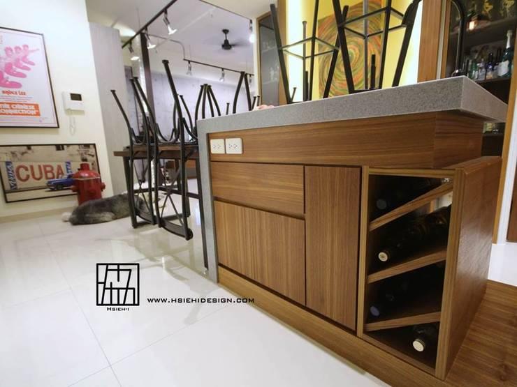 餐廳吧台:  餐廳 by 協億室內設計有限公司