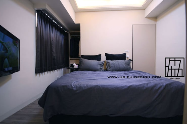 主臥室:  臥室 by 協億室內設計有限公司