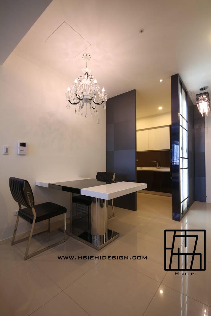 廚房與餐廳:  餐廳 by 協億室內設計有限公司