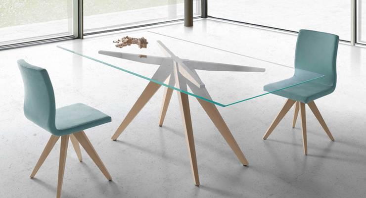 modern Dining room تنفيذ Intense mobiliário e interiores;