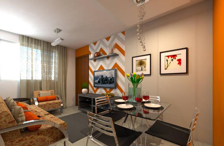 Decoração Apartamento C.O.: Salas de jantar  por DTE Arquitetura