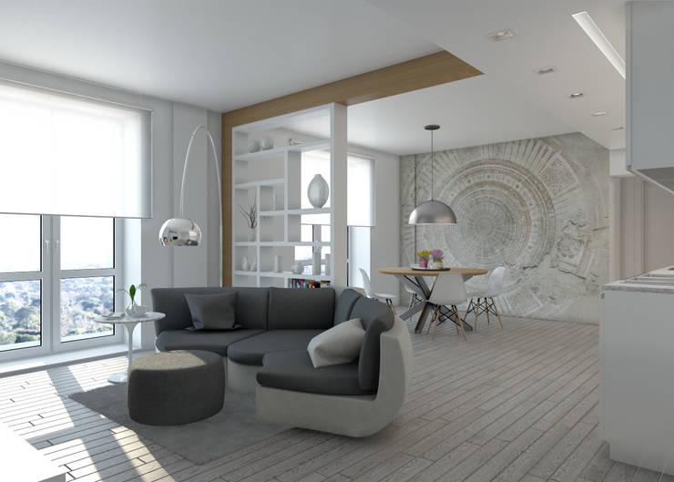 Projekty,  Salon zaprojektowane przez Silvana Barbato, StudioAtelier
