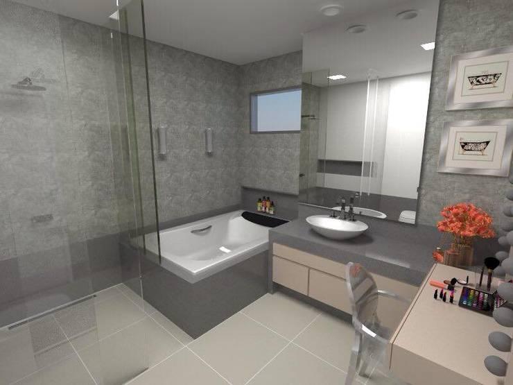 Baños de estilo  por Daniela Rosa Arquitetura Interiores