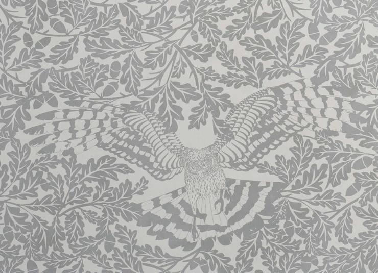FOREST Dust Dove Grey Wallpaper 10m Roll de Hevensent Escandinavo