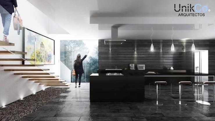 Hill House,Cocina  - Zapopan, Jalisco: Cocinas de estilo minimalista por Unikco Arquitectos