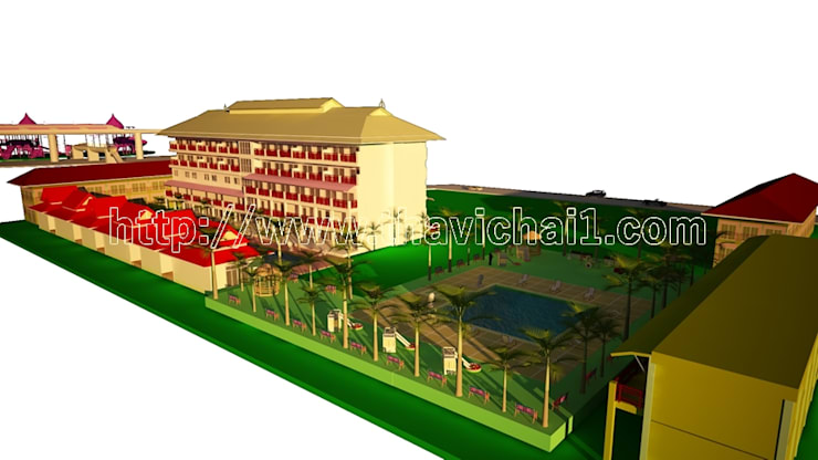 โครงการปรับปรุงโรงแรมที่ อ.หัวหิน จ.ประจวบคีรีขันธ์ :  โรงแรม by PROFILE INTERIOR STUDIO