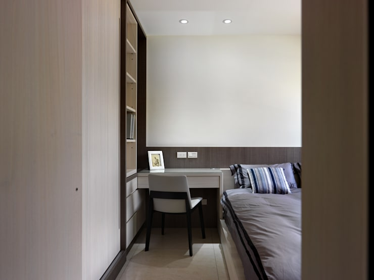 質感設計打造年輕人最愛現代風格:  臥室 by 拾雅客空間設計