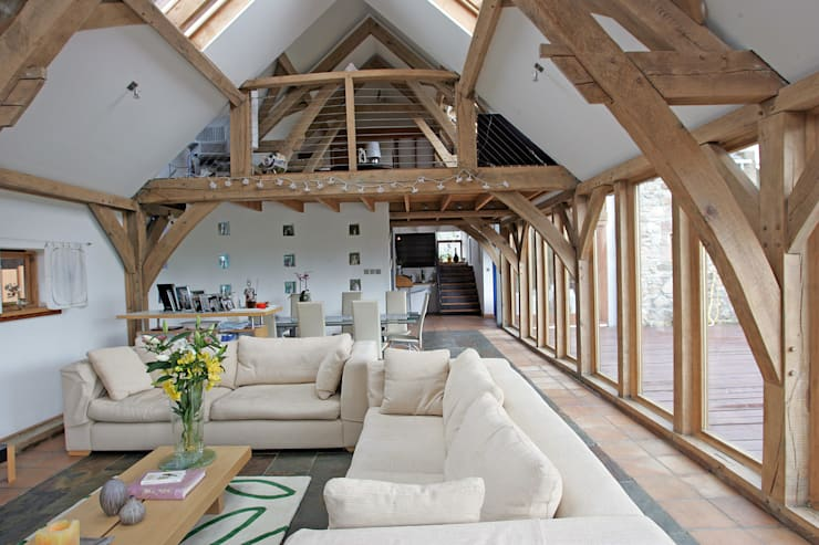 Mill O Braco - Family home - Aberdeenshire - Scotland : rustic Living room by Retool architecture