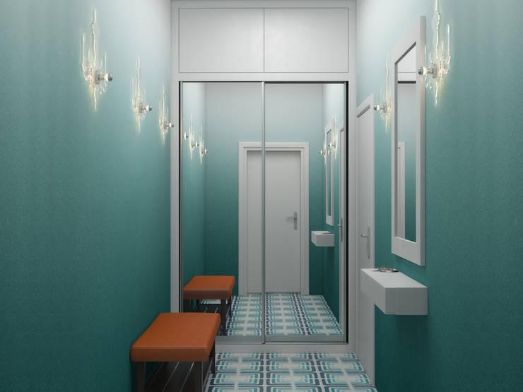 Couloir et hall d'entrée de style  par Ёрумдизайн, Scandinave Tuiles