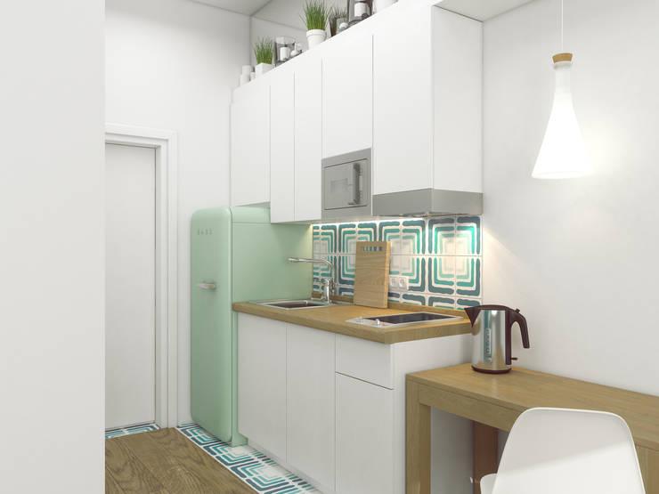 Студия 20 м2 в Москве №10: Кухни в . Автор – Ёрумдизайн
