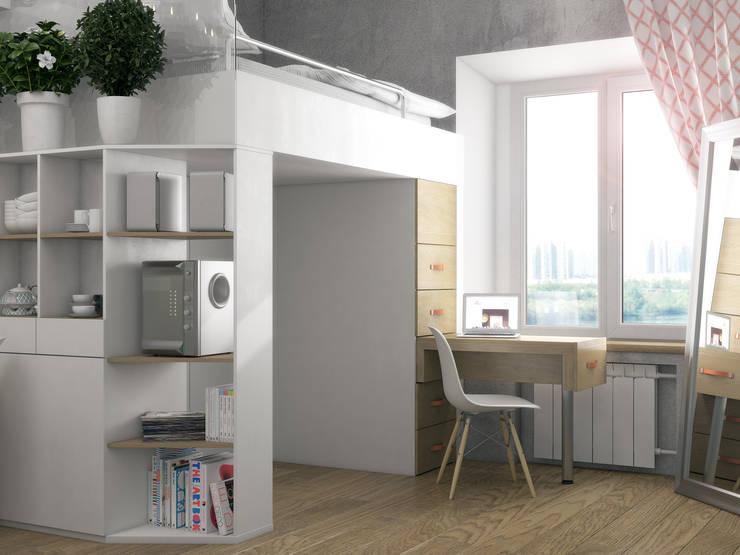 Study/office by Ёрумдизайн, Scandinavian MDF