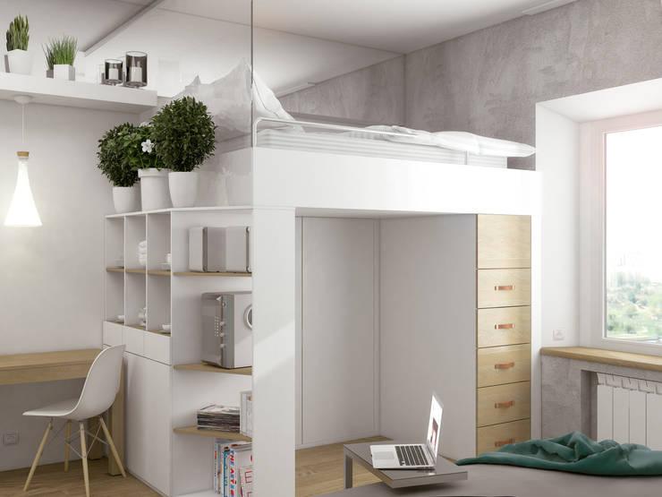 Couloir et hall d'entrée de style  par Ёрумдизайн, Scandinave MDF