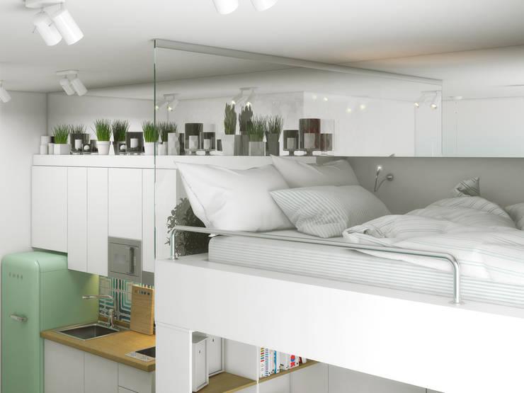 스칸디나비아 침실 by Ёрумдизайн 북유럽 MDF
