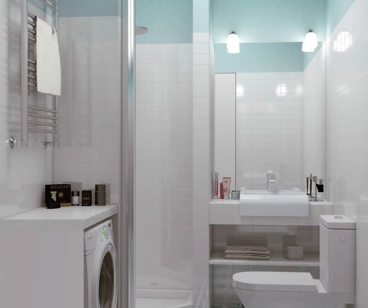 스칸디나비아 욕실 by Ёрумдизайн 북유럽 타일