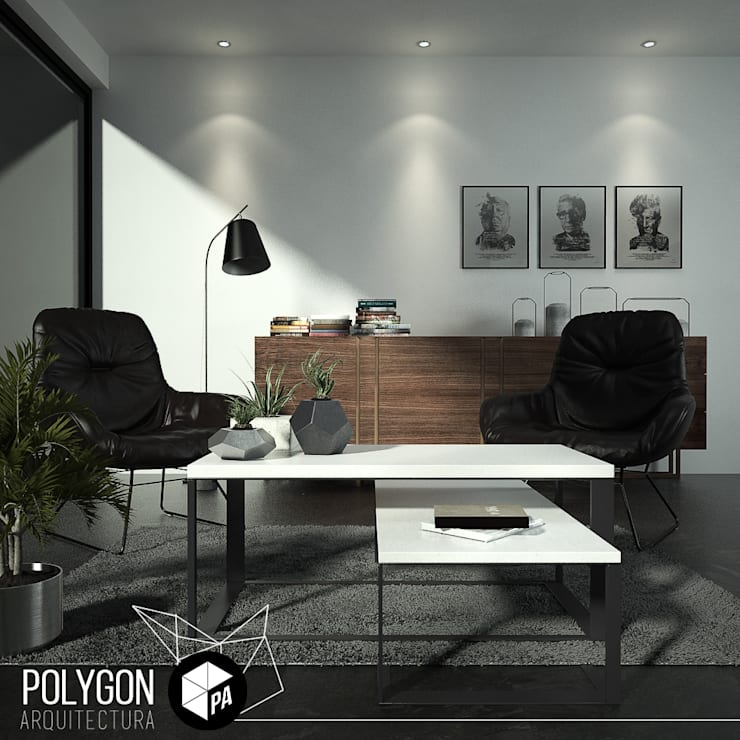 Visualizacion 3D: Salas de estilo  por Polygon Arquitectura