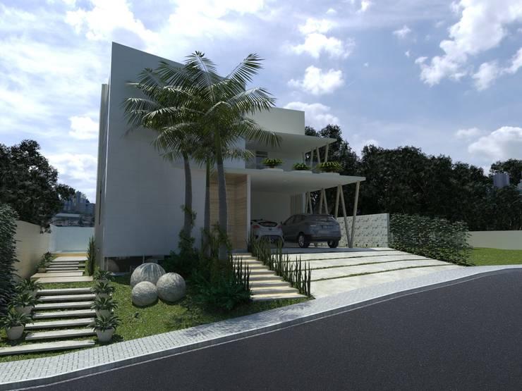 Casas de estilo moderno por Larissa Vinagre Arquitetos