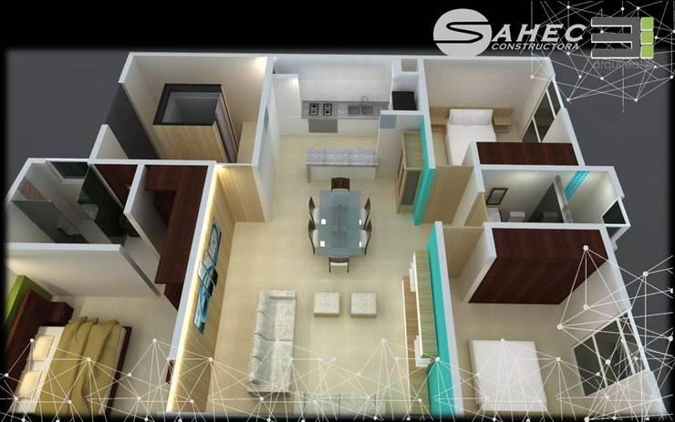 by TRES arquitectos
