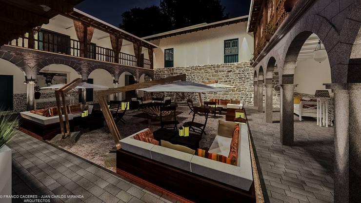 RESTAURACION Y PUESTA EN VALOR DE CASONA PANIAGUA:  de estilo  por FRANCO CACERES / Arquitectos & Asociados
