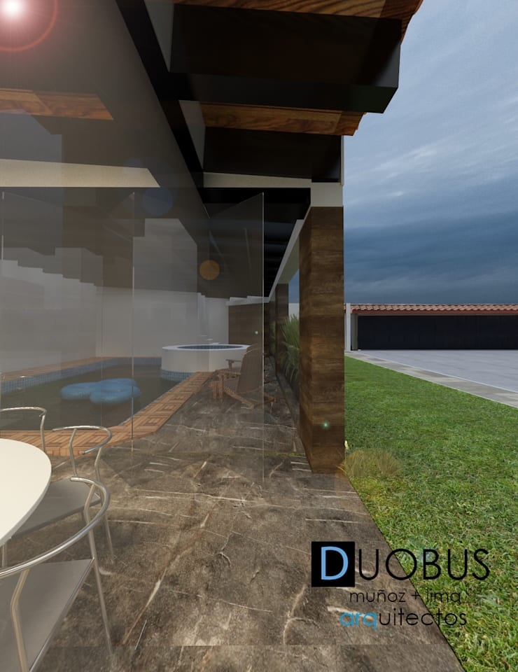 remodelación casa J.L.C.: Terrazas de estilo  por DUOBUS M + L arquitectos, Moderno