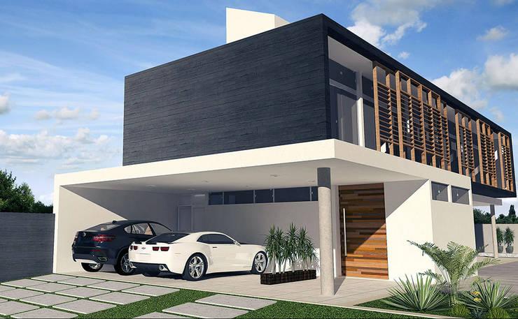 Morada do Sol: Casas  por Escritório de Arquitetura Eraldo Rocha