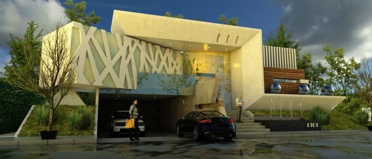 CASA CONTEMPORANEA: Casas de estilo moderno por VISION+ARQUITECTOS