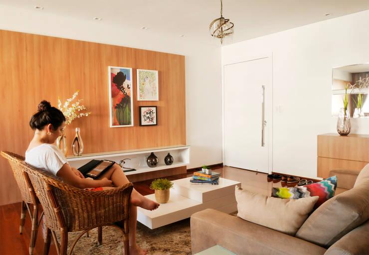 Projekty,  Salon zaprojektowane przez Ladrilho Urbanismo e Arquitetura