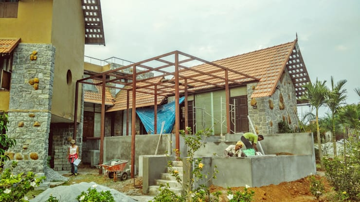 During Construction :   by GENESIS ARCHITECTURE