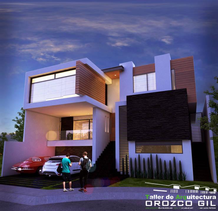 CASA CG-2 RT: Casas de estilo minimalista por OROZCO GIL TALLER DE ARQUITECTURA