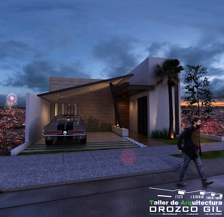 CASA MONTERRA 3: Casas de estilo  por OROZCO GIL TALLER DE ARQUITECTURA, Minimalista