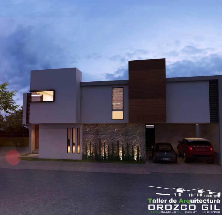 CASA AL-RFT: Casas de estilo  por OROZCO GIL TALLER DE ARQUITECTURA